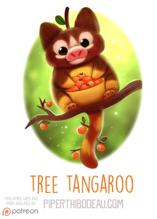 Daily Paint 1576. Tree Tangaroo - piperthibodeau | ello
