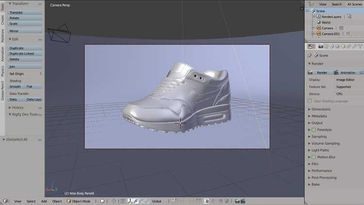Viewport - 3d, blender3d, nike, sneakers - rence-2540   ello