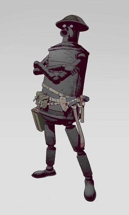 Tin Robot | Ink Photoshop - robertsammelin - robertsammelin-9753 | ello