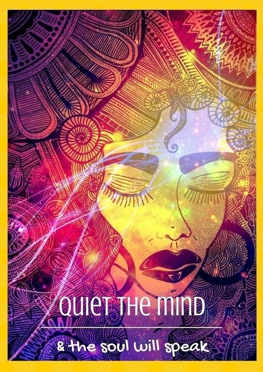 Desray Doodle Quote: Quiet mind - allyparsons | ello
