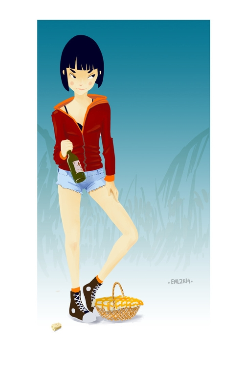 Red Riding Hood - illustration, characterdesign - emarchena   ello