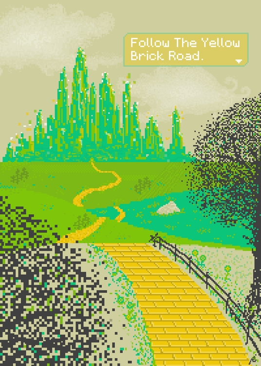 Follow Yellow Brick Road - illustration - themahmoudnasr | ello