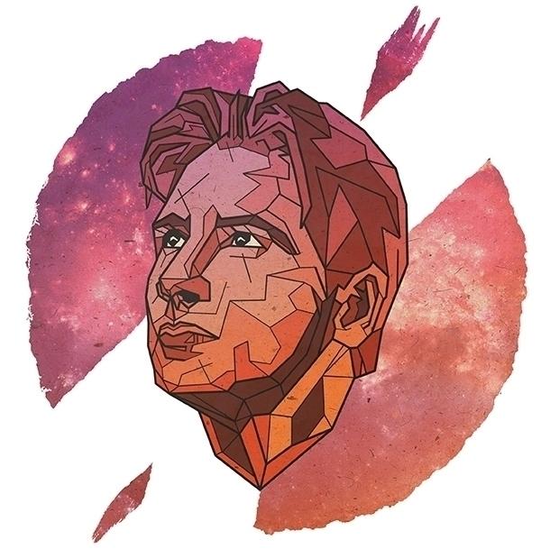 David Duchovny - geometric, portrait - alexanderwalker-5442 | ello