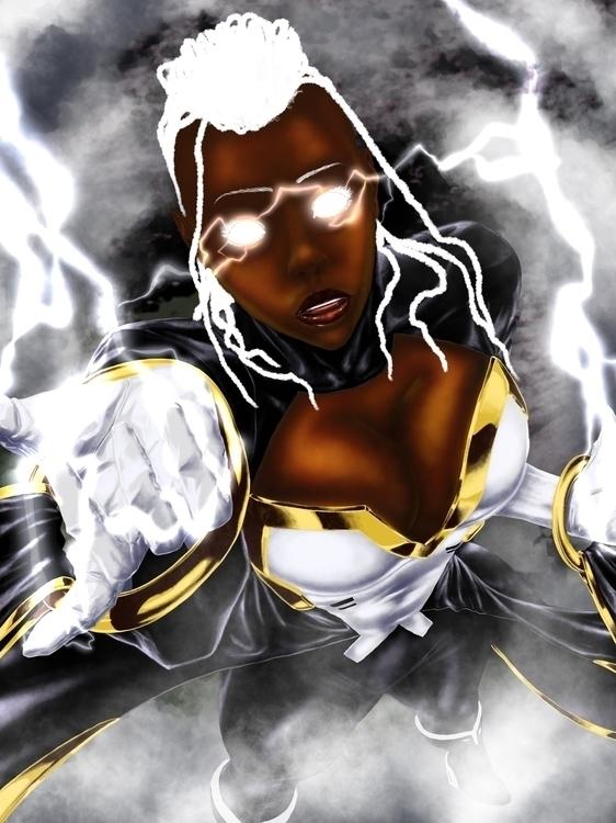 Storm - illustration, painting, characterdesign - ndgoink | ello
