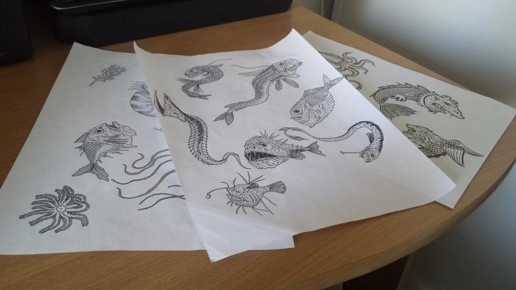 sketches project fish deep sea  - ladislas-2174   ello