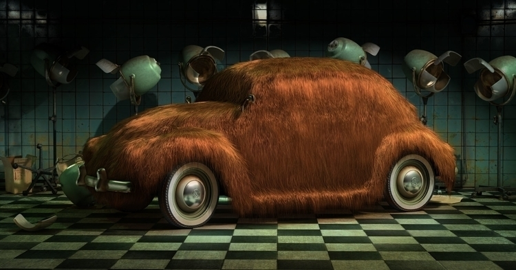 Hairy Beetle - illustration, 3d - curro-1143 | ello