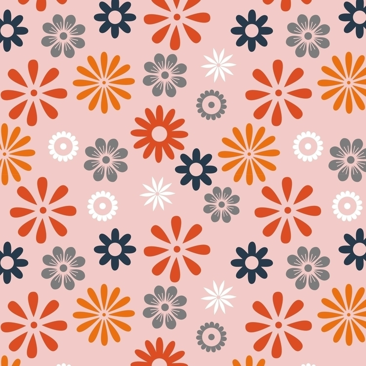 Flowers pattern - illustration, #pattern - cibelle-7505 | ello