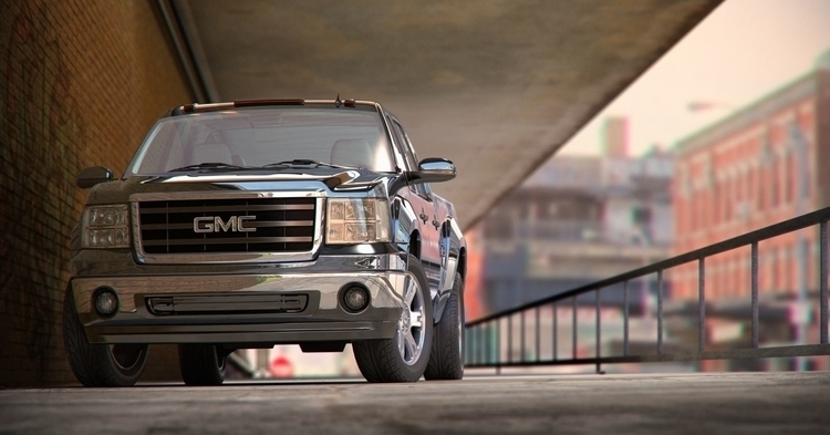 GMC - 3d, cgi, astorza, car, illustration - curro-1143 | ello