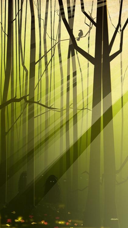 Deep Forest - illustration, characterdesign - emarchena | ello