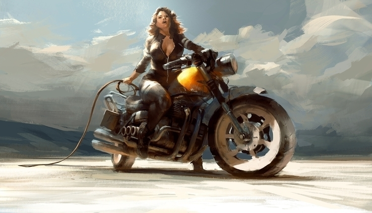 Biker Chick | Photoshop - robertsammelin - robertsammelin-9753 | ello