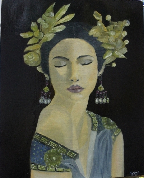 beautiful Helen - oilpainting, painting - marjpal | ello