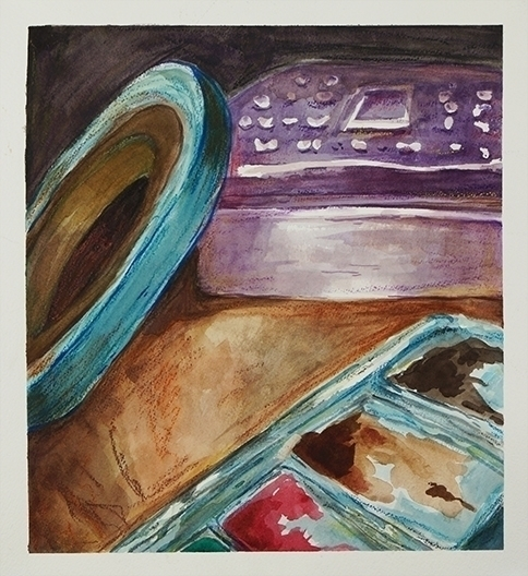 Water color study - watercolor, stilllife - ariannafahrenkamp   ello