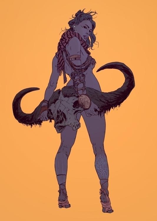 Buffalo Skull Girl | Ink Photos - robertsammelin-9753 | ello