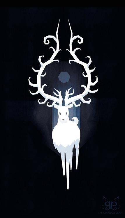 Winter spirit - illustration, christmas - gemmagould   ello