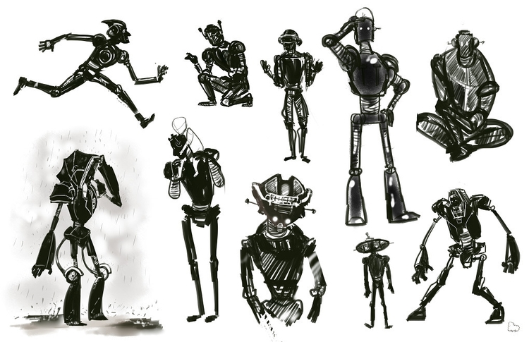 Robbie silhouettes. silhouettes - sheeprilyn | ello