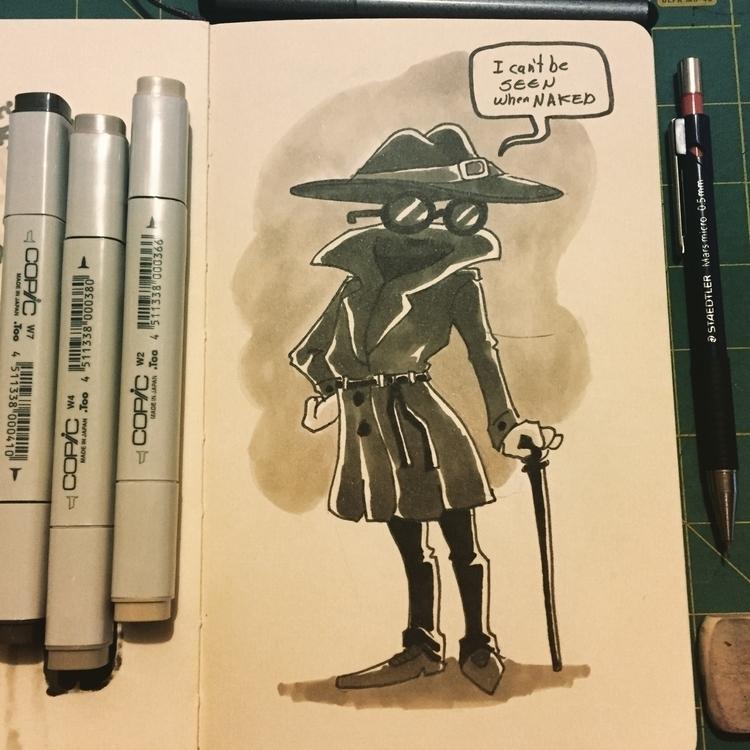 Day 27 - characterdesign, inktober2015 - pingolito | ello