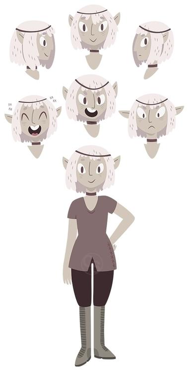 Elf - elf, vector, characterdesign - clairestamper | ello