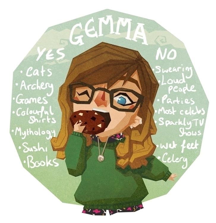 Meet Artist - illustration, selfportrait - gemmagould | ello