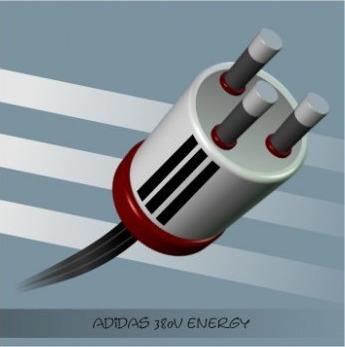 Crazy plug Adidas - vectorillustration - igor01 | ello