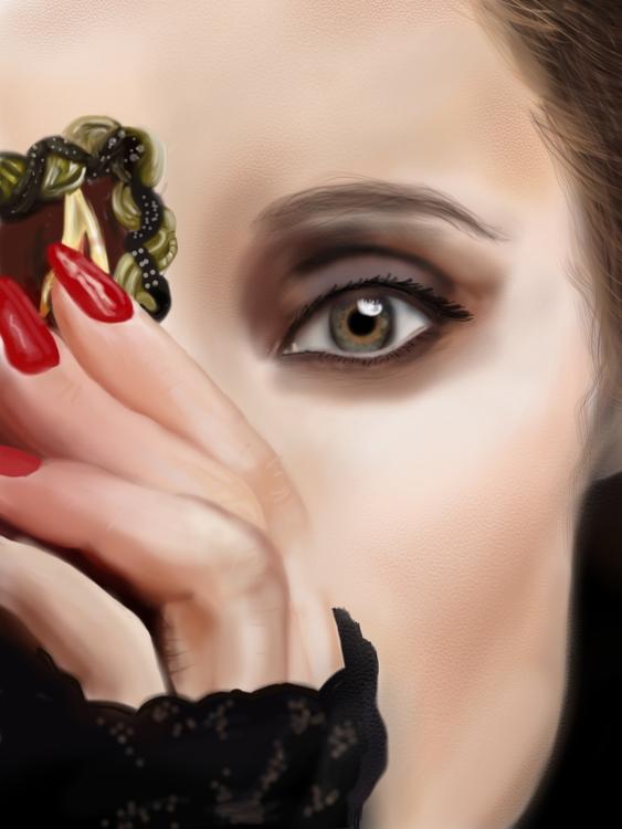 hiding darkness - illustration, painting - jortiz-9644 | ello