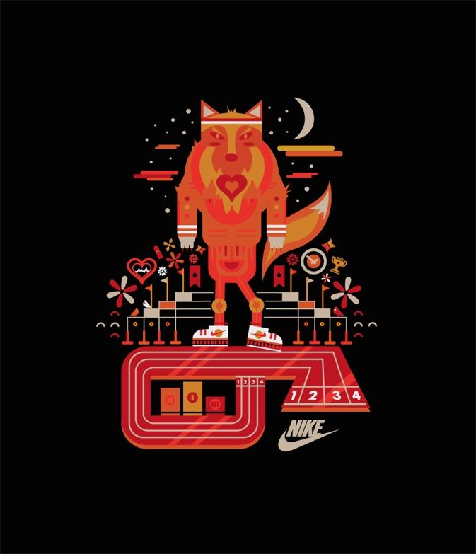 Nike Athletic - illustration, graphicdesign - fishfinger-1442 | ello