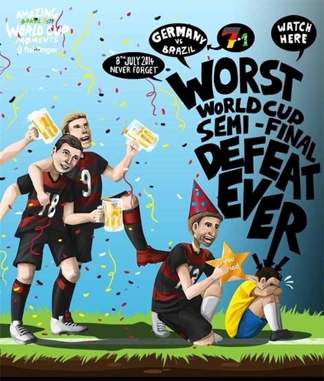 World Cup 2015 - illustration, graphicdesign - fishfinger-1442 | ello