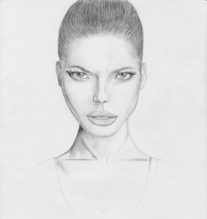 portrait, woman, pencil, fabercastell - artcyan | ello