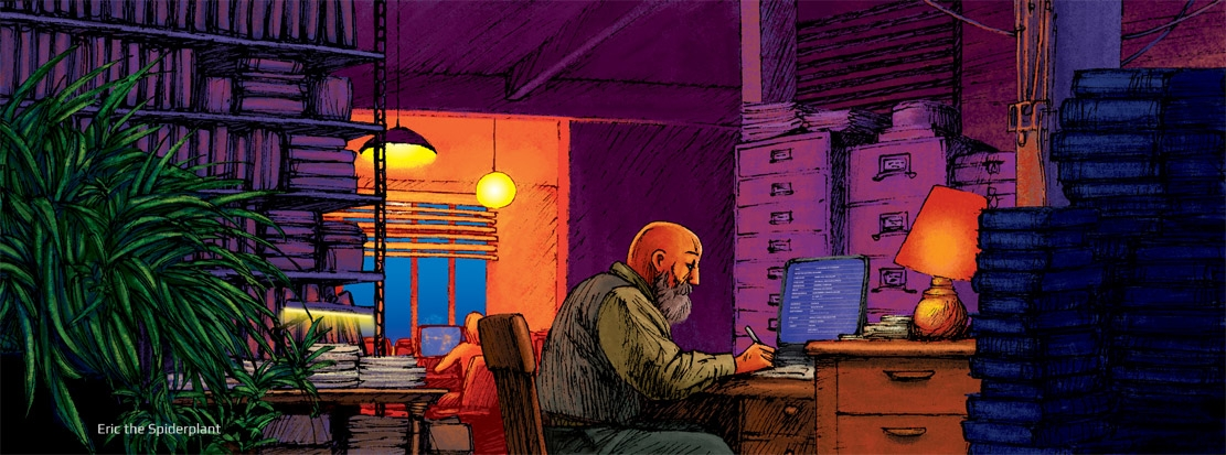 Angus - illustration, interior, office - dannybriggs | ello