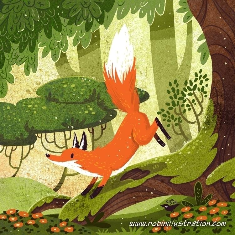 Fox Box - fox, redfox, woodland - robinrobinsonia | ello