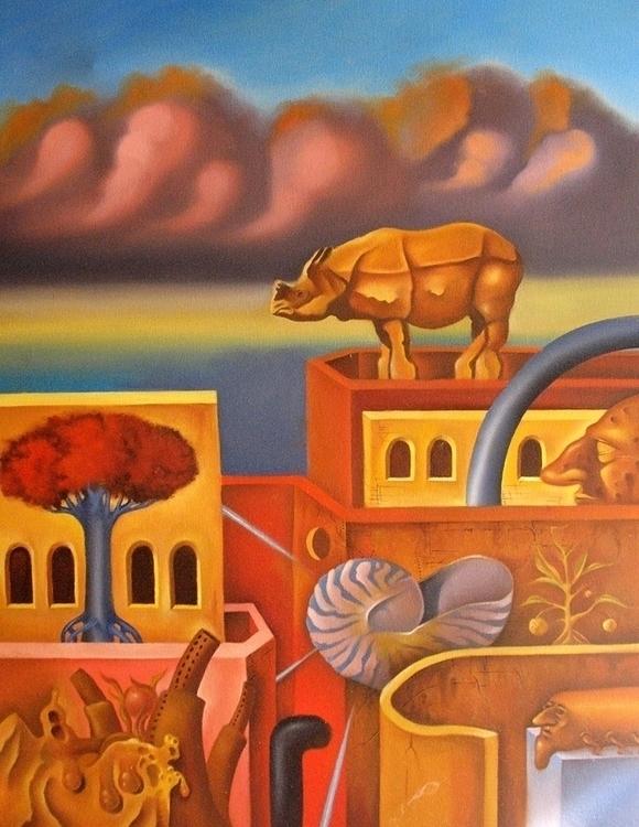 Jerusalem 2 oil canvas - painting - rubencukier   ello