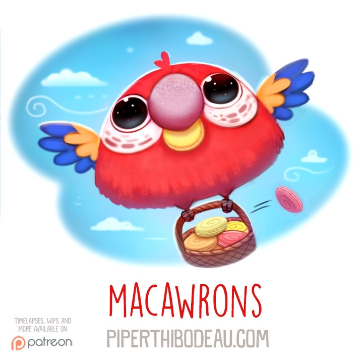 Daily Paint 1585. Macawrons - piperthibodeau | ello