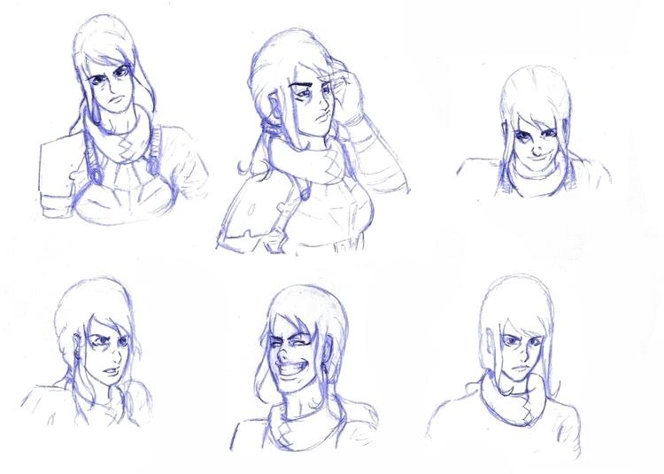 Concept Sketches Celes Comic bo - viktorleon   ello