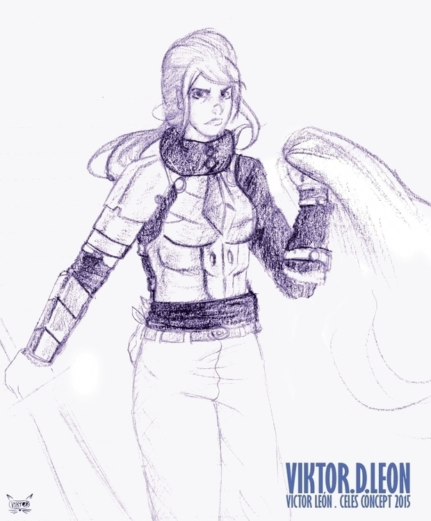 Concept Sketches Celes Comic bo - viktorleon | ello