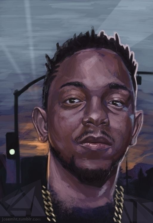 Kendrick Lamar - portrait, kendricklamar - josehdz_illustration | ello