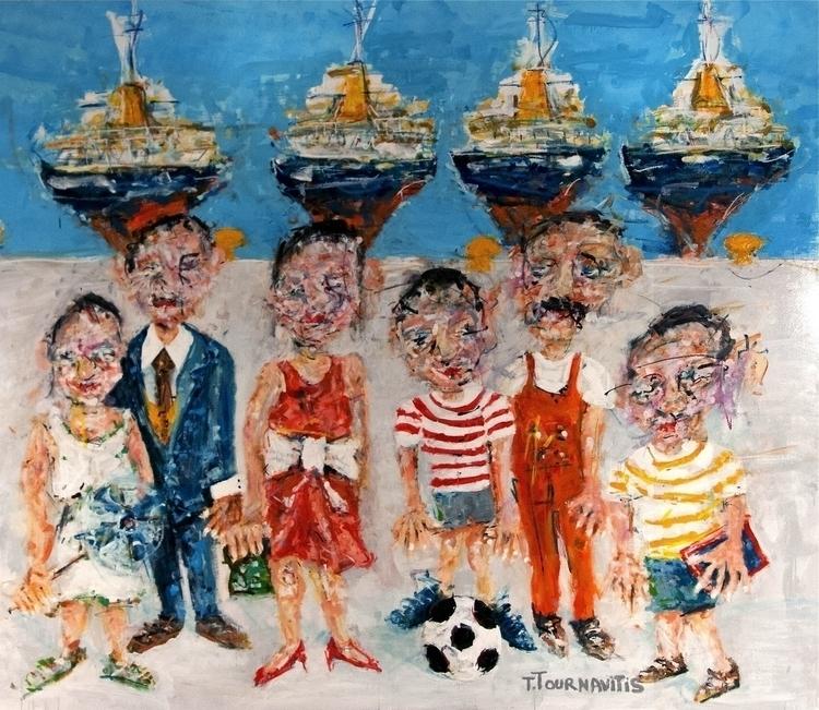 Port, 205x238 cm, oil canvas. T - thomastournavitis | ello