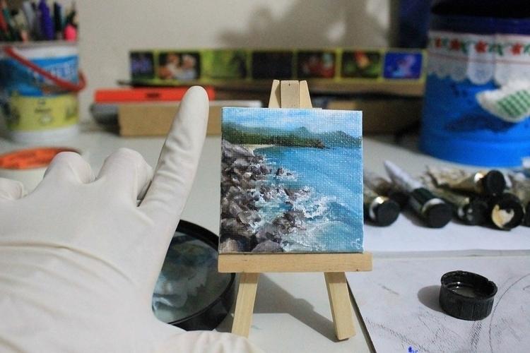 Beach - Oil Painting - painting - vanniegama | ello