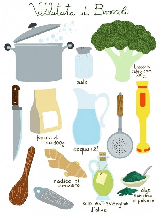 Cream broccoli - cream, knife - dorianostrologo   ello