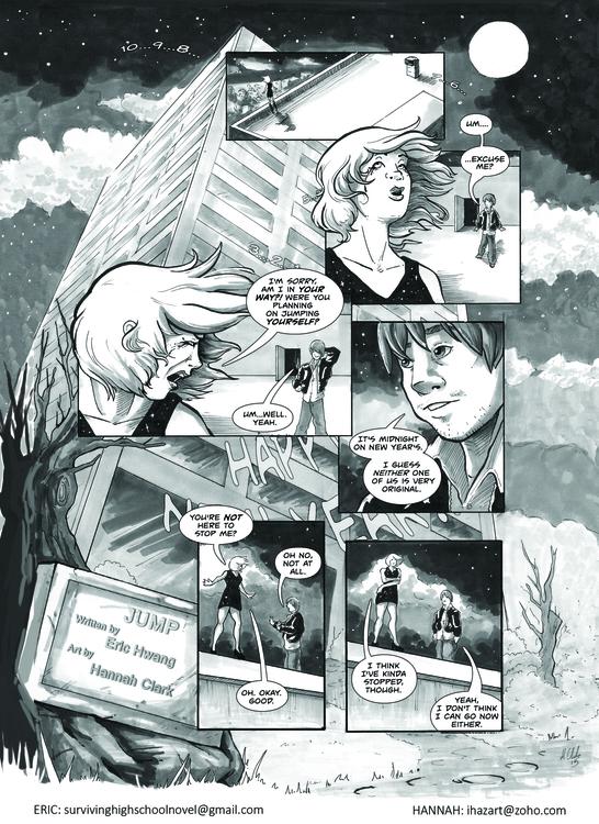 Short comic ''Jump'' page 1 - comics - ihazart | ello