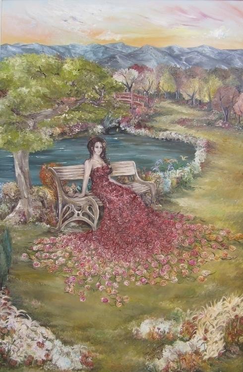 Garden - Oil Painting - painting - vanniegama | ello