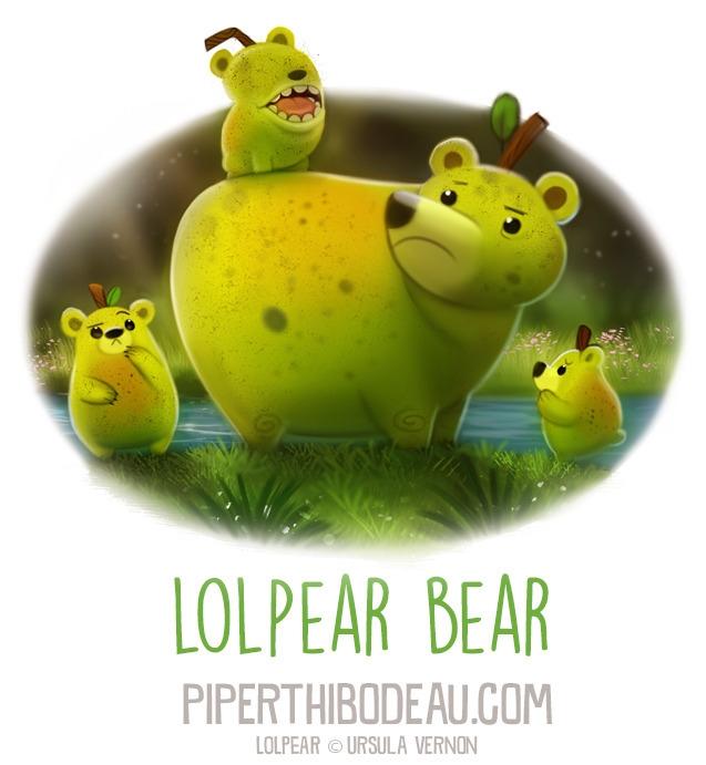 Daily Paint 1592. Lolpear Bear - piperthibodeau | ello