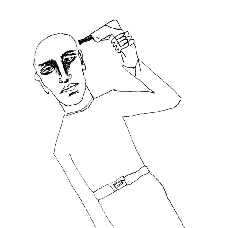 drawing, blackandwhite, human - tychonikum   ello