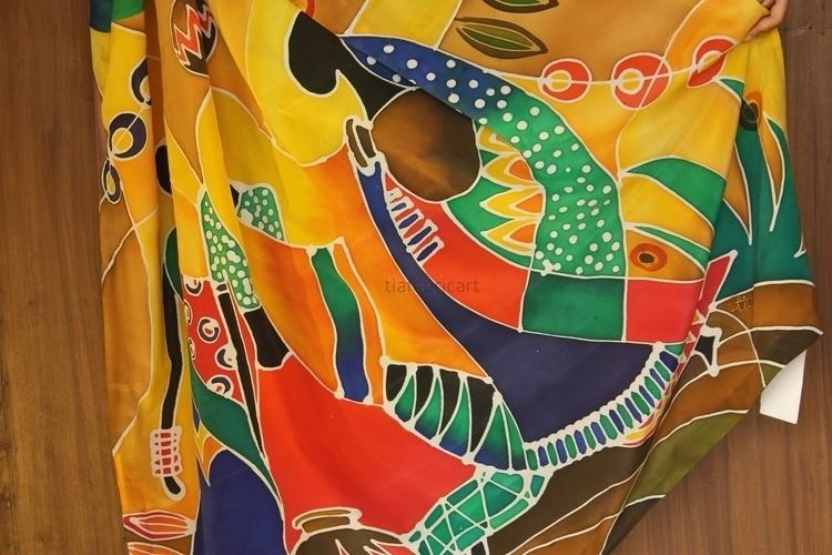 Wearable art silk Hand painted  - ishitabhattacharya | ello