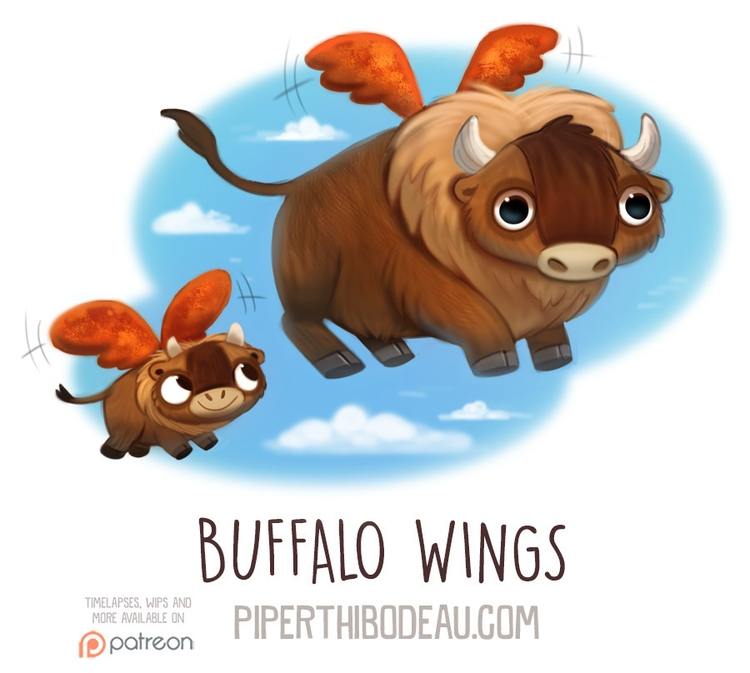 Daily Paint 1593. Buffalo Wings - piperthibodeau | ello