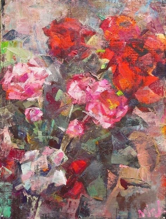 life roses - painting - vladimirmishyra | ello