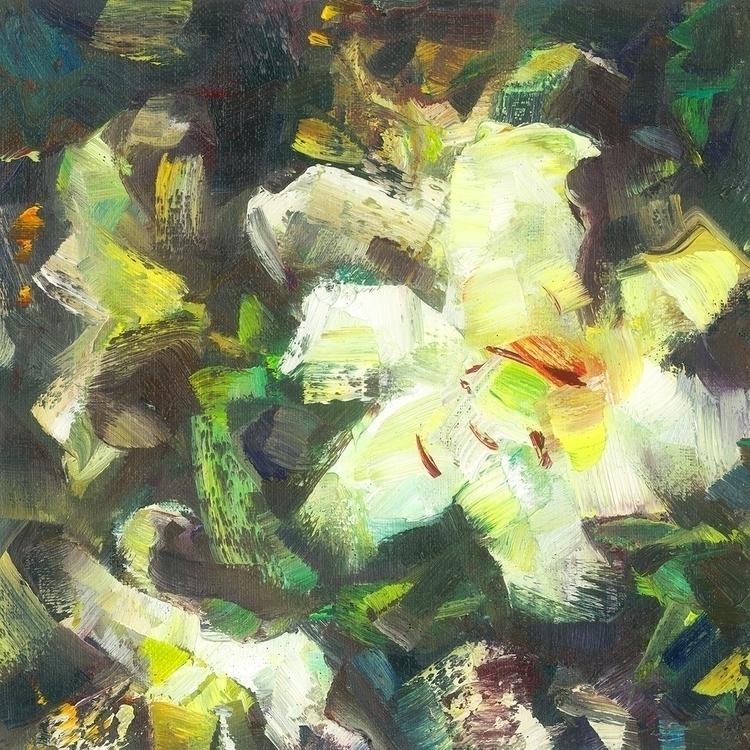 white lilies - painting - vladimirmishyra | ello
