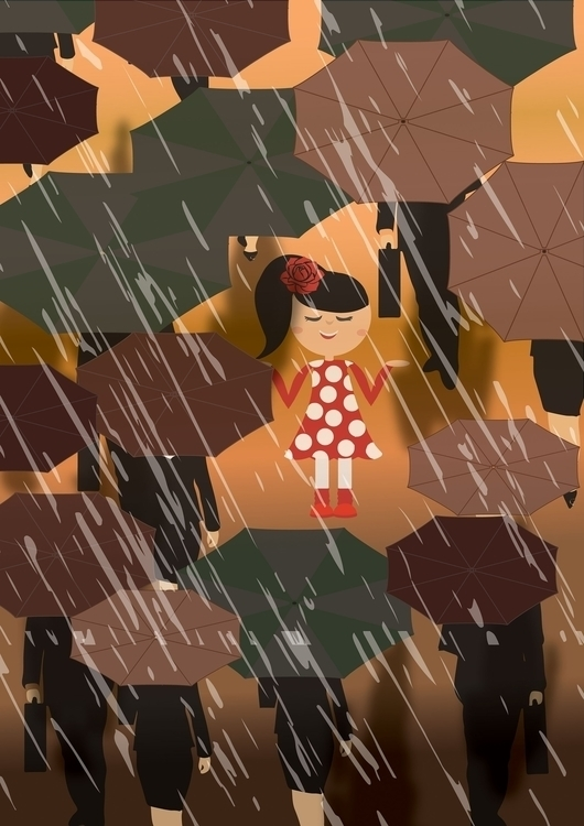 Rains - illustration, photography - vidhishakedia | ello