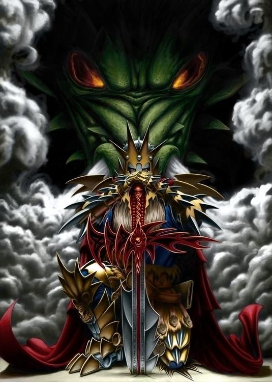 dragon lord. Personal project - digitalillustration - alexfemenias | ello