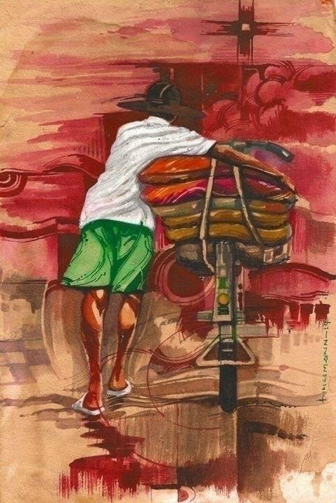 road democracy - painting, watercolor - sunnyefemena | ello