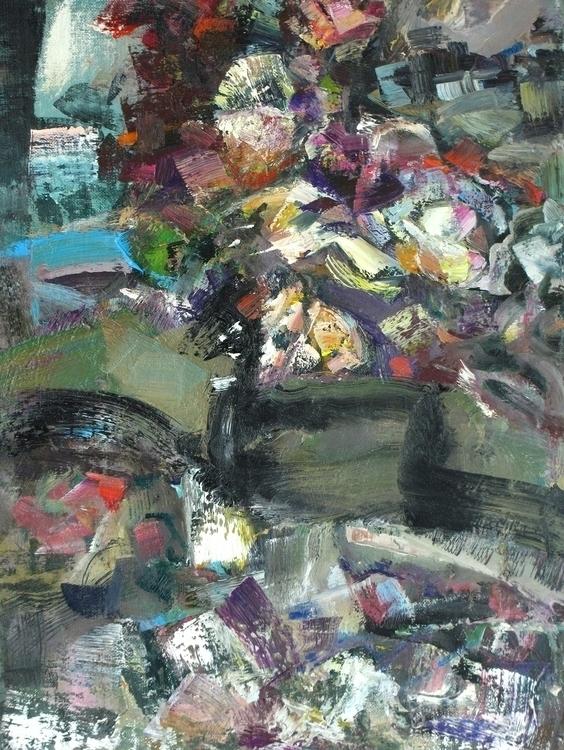 edge village, table - painting - vladimirmishyra | ello