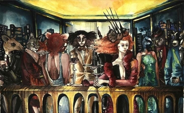 Hostess - Watercolors - #illustration#watercolor#beauty#makeup - vanniegama | ello